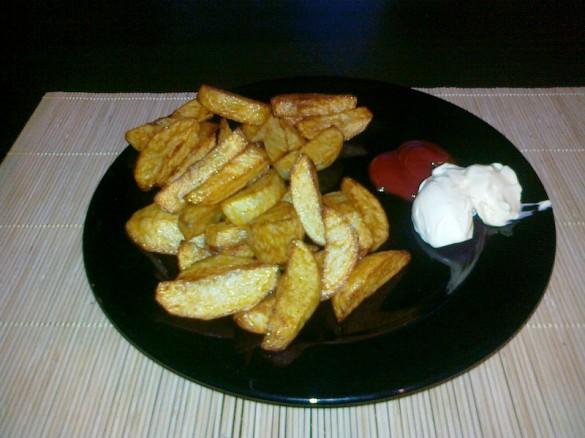 Domowe frytki - gotowe danie