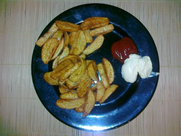 Domowe frytki - gotowe danie 2