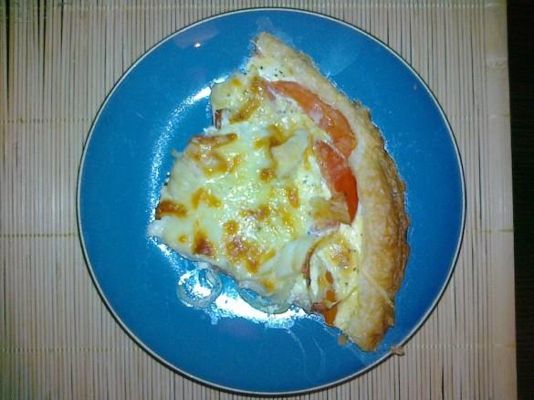 Tarta pomidorowo-serowa - gotowe danie